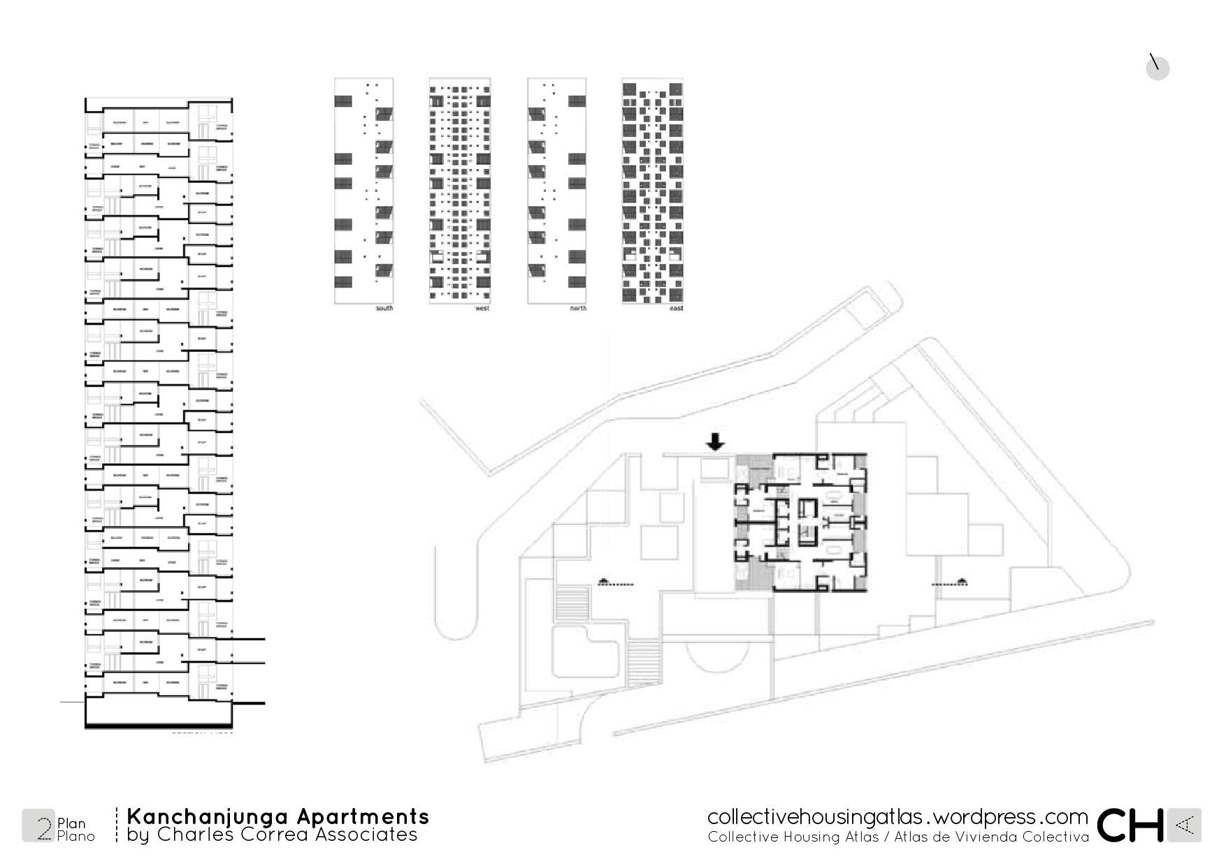 kanchanjunga apartments by charles correa associates